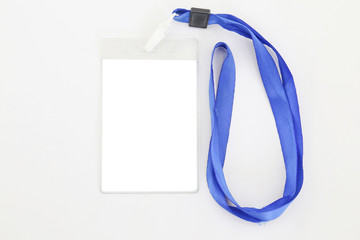 Identification card on white