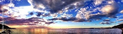 Keuken foto achterwand Noord Europa italian sunset at Trieste