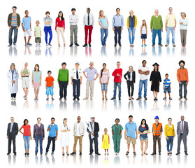 Group of Diverse People with Different Occupations