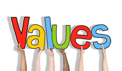 Values word Isolated on Background