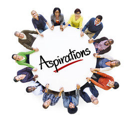 People Social Networking and Aspirations Concepts
