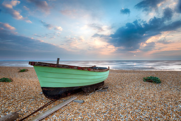Green Fishing Boat at Lydd