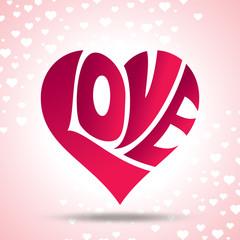 vector of love heart