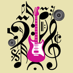 Abstract musical background for music event design
