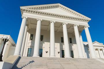 Classic portico architecture. Virginia State Capitol