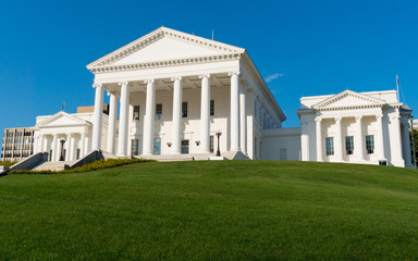 Virginia Statehouse building in Richmond, Virginia, USA