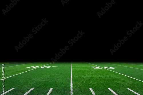 Football field with copy space poster