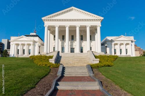 Zdjęcia na płótnie, fototapety, obrazy : Virginia Statehouse building in Richmond, Virginia, USA