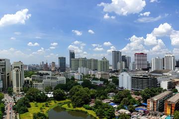 Beautiful blue sky at downtown of Bangkok