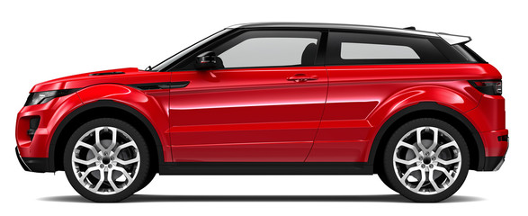 Compact red SUV