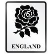 Monochrome England public information sign