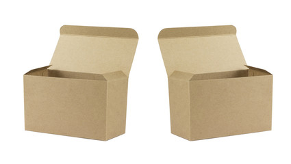 photo of open cardboard boxes