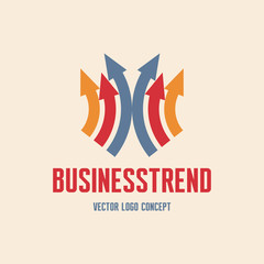 Business Trend Logo Sign - Vector logo template.