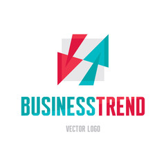 Business trend logo. Abstract arrows illustration.