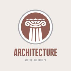 Architecture - vector logo concept. Architectural order.