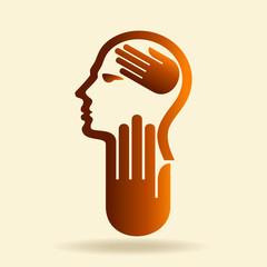 human head thinking a new idea