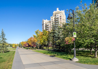Calgary's pathway system in autumn