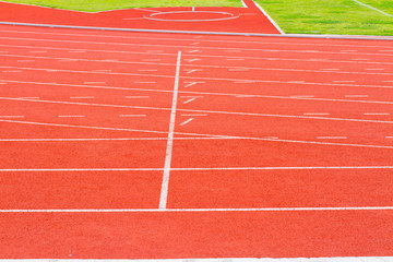 Running track for athletics and sport