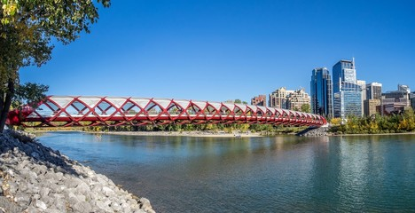 Footbridge over the Bow River in Calgary