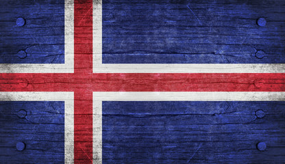 The National Flag of the iceland