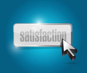 satisfaction button illustration design