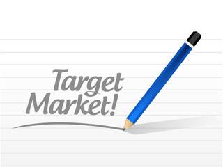 target market message illustration design