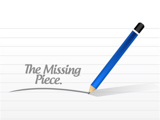 missing piece message illustration design
