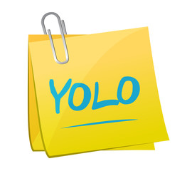 yolo memo post illustration design