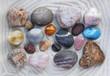 canvas print picture - Sea stones background
