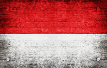 The National Flag of the Indonesia
