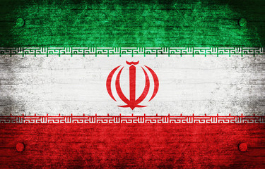 The National Flag of the Iran