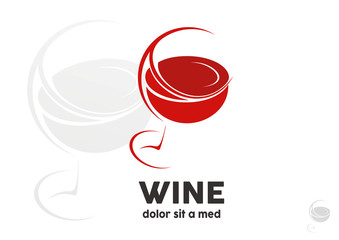 Glass of wine logo vector