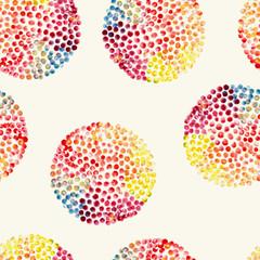 Watercolor circles seamless pattern