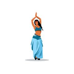 Belly dance girl vector sign