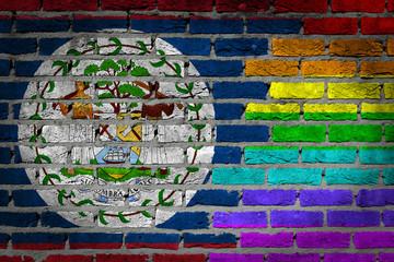 Dark brick wall - LGBT rights - Belize