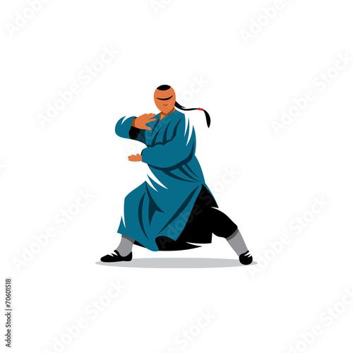 Shaolin monk veector sign - 70601518