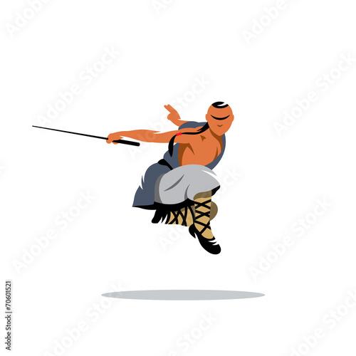 Fototapeta Shaolin monk veector sign
