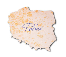Poland - Old paper with handwriting