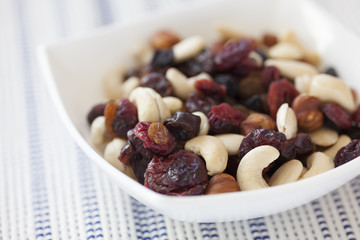 Dried nuts and berries mix