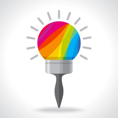creative bulb paint brush idea