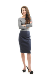 Full length portrait of young businesswoman