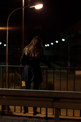Woman on viaduct before suicide