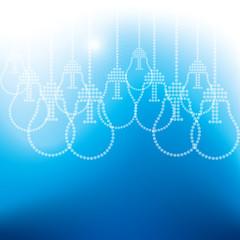 many bulb on blue background