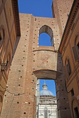 The ancient center of Siena. (Tuscany, Italy)