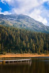 Pier on alpine lake