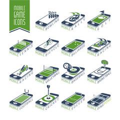 Mobile - online sport games icon set - 2