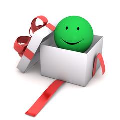 Gift Green Smiley