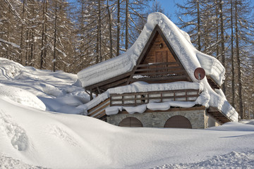 mountain hut chalet