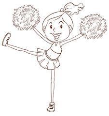 A simple sketch of a cheerleader