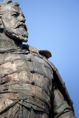 Statue of general Klapka closeup